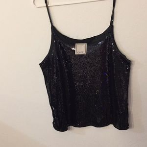 Sequins black top